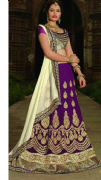 Embellished Purple Lehenga